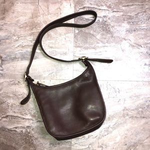 Coach Vintage Brown Soft Leather Shoulder Bag